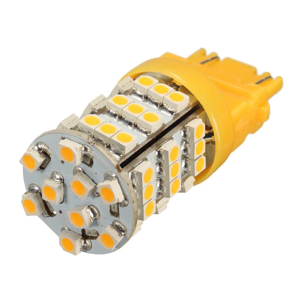 Universale 3157 ambrato 54smd giallo LED girare angolo lampeggiatore lampadina luce del segnale