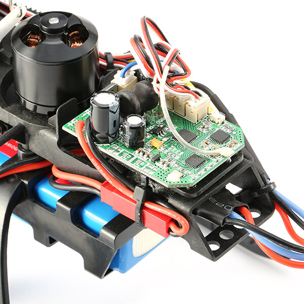 XK K123 6CH Brushless 3D6G System AS350 Scale RC Helicopter Compatible with FUTAB-A S-FHSS 4PCS 3.7V 500MAH Lipo Battery - 6