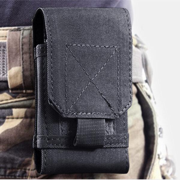 6 इंच से कम स्मार्टफोन के लिए आउटडोर सामरिक कमर भंडारण बैग केस कवर पाउच