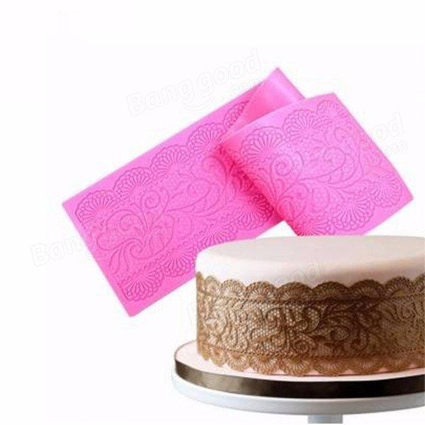 Flower Lace Silicone Mould Fondant Sugar Mat Cake Decoration Tool For Sale