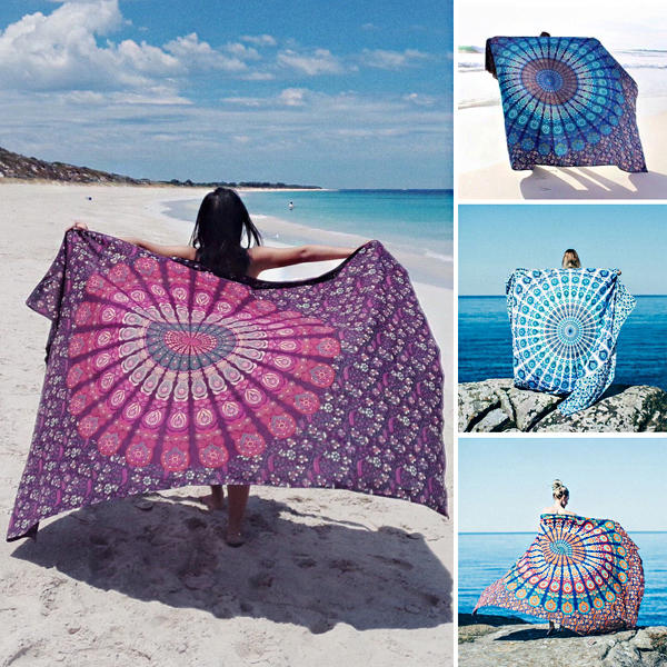 70x140cm Absorbent Cotton Australian Canada Flag Beach Towels Creative Quick Dry Bath Towel - 1