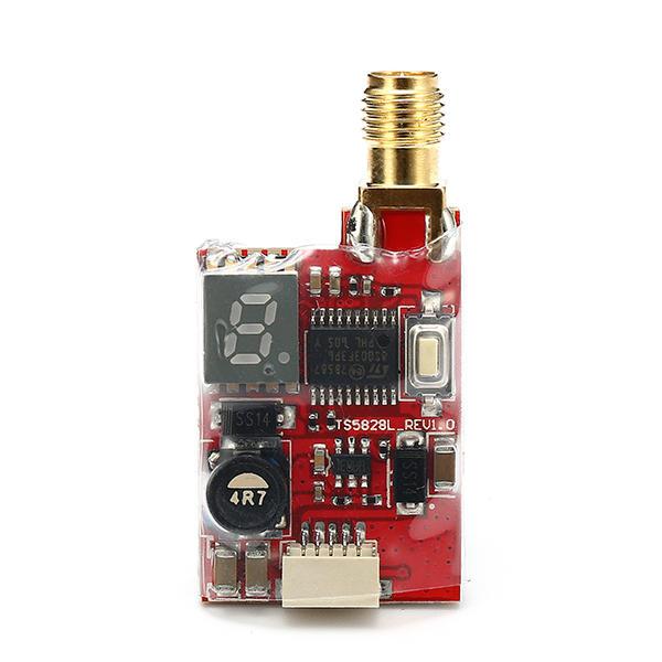 Eachine TS5828L Mikro 5.8G 600 mW 40CH Mini FPV Transmitter VTX dengan Tampilan Digital Untuk RC Drone