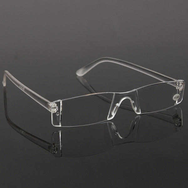 Fashion Resin Clear Rimless Reader Presbyopic Eyewear Reading Glasses
