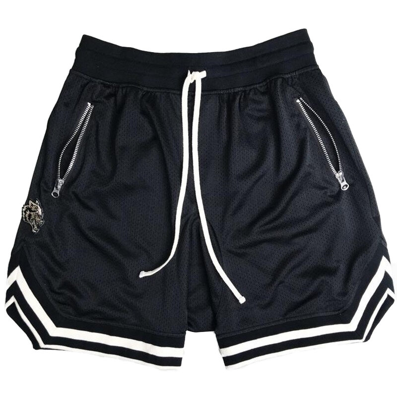Men Sport Shorts Athletic Short with Pockets Polyester Ball Games Exercise Shorts Elastic Waist New Mesh Fitness Shorts - 1