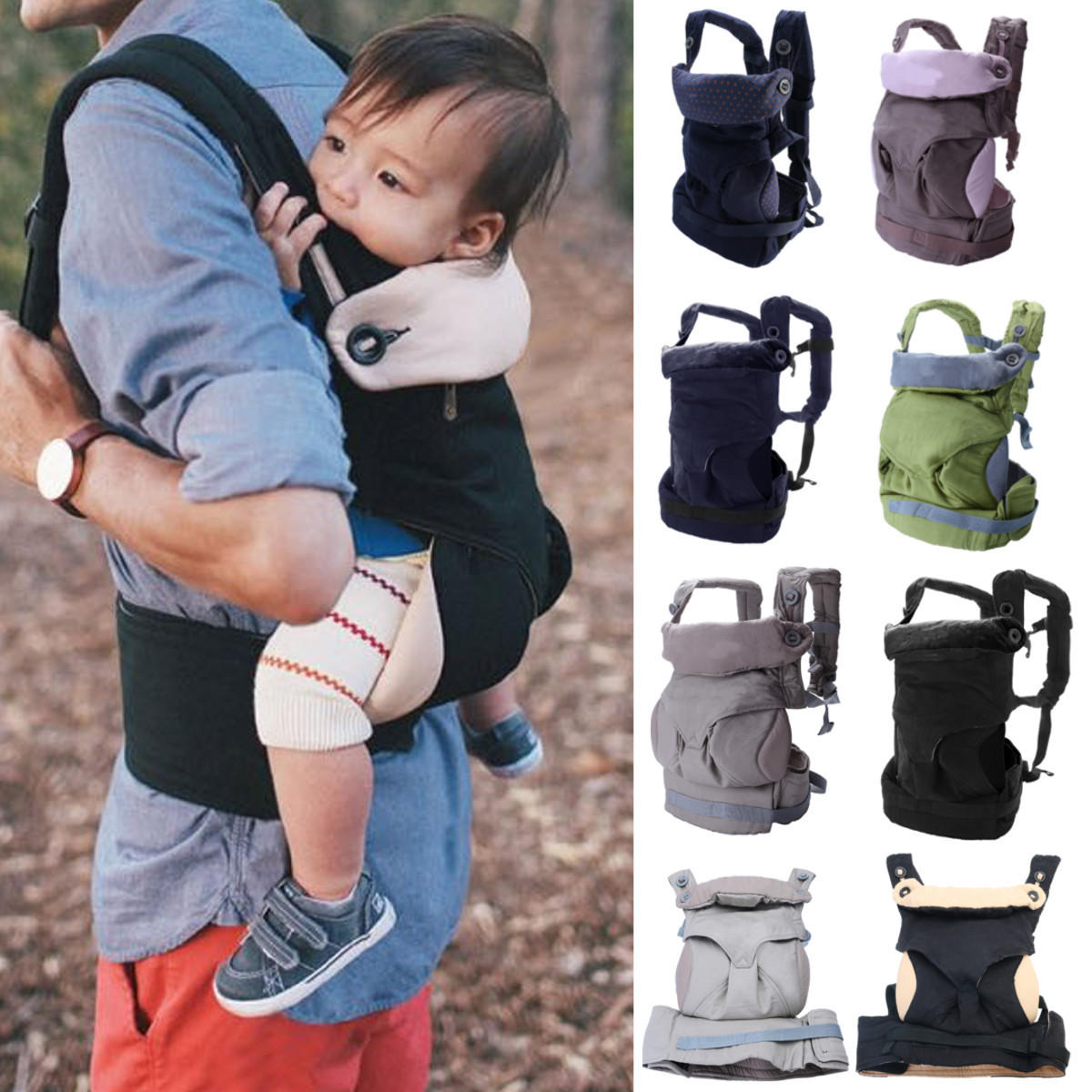 Baby Kids Safety Harness Cotton Walking Rein Carrier Breathable Babys Strap Baby Carriers - 1