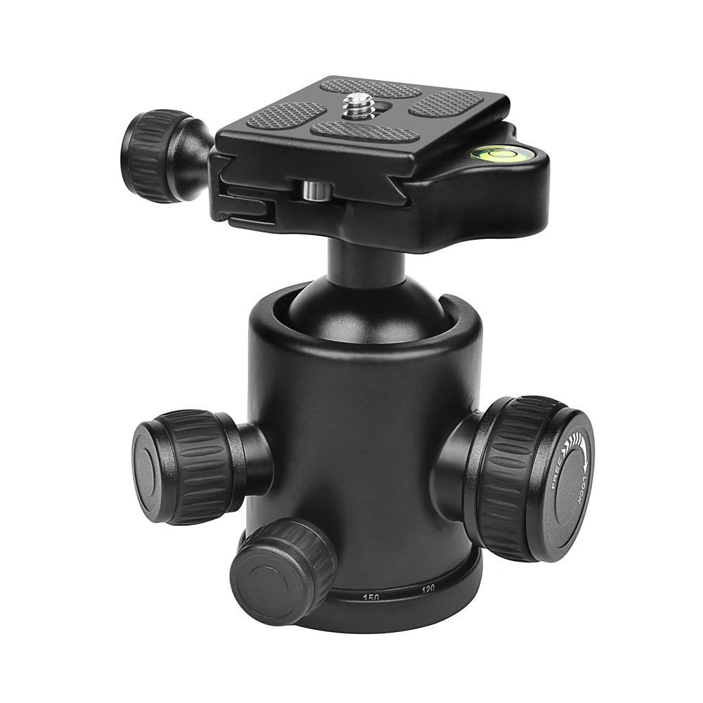 SHOOT XTGP444 Professional Mini 360 Degree Fluid Rotation Tripod Head Ball for DSLR Camera with Quick Release Plate 1/4inch Screw Max Load 10kg - 1
