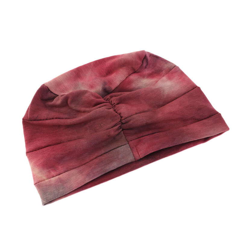 Women Tie dye Headscarf Modal Hair Jacket Turban Hat Cotton Casual Breathable Head Cap - 7