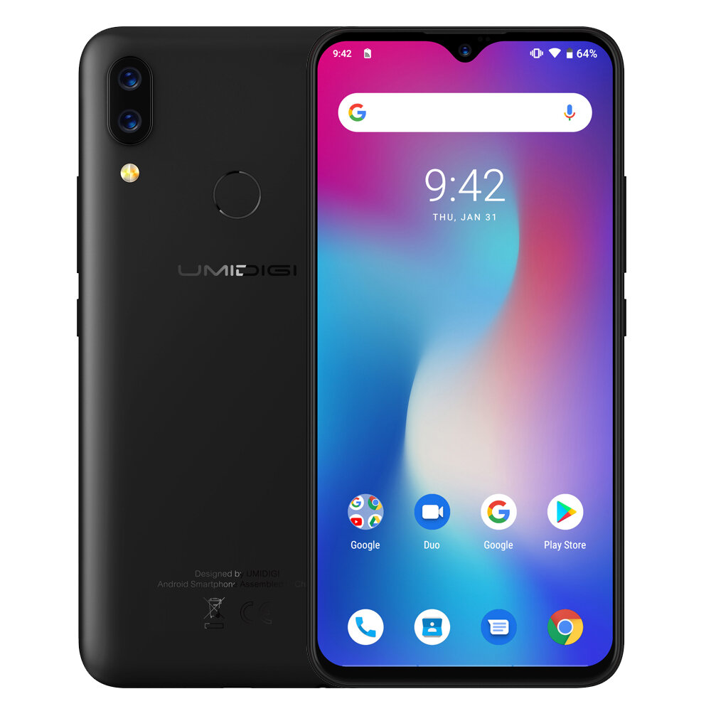 UMIDIGI Power Global Bands 6 3 Inch FHD+ Waterdrop Display NFC 5150mAh  Android 9 0 4G 64G Helio P35 4G Smartphone
