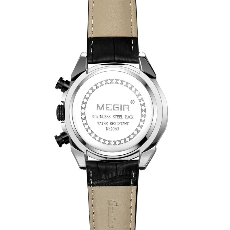 MEGIR 2095 Waterproof Luminous Display Quartz Watch - 5
