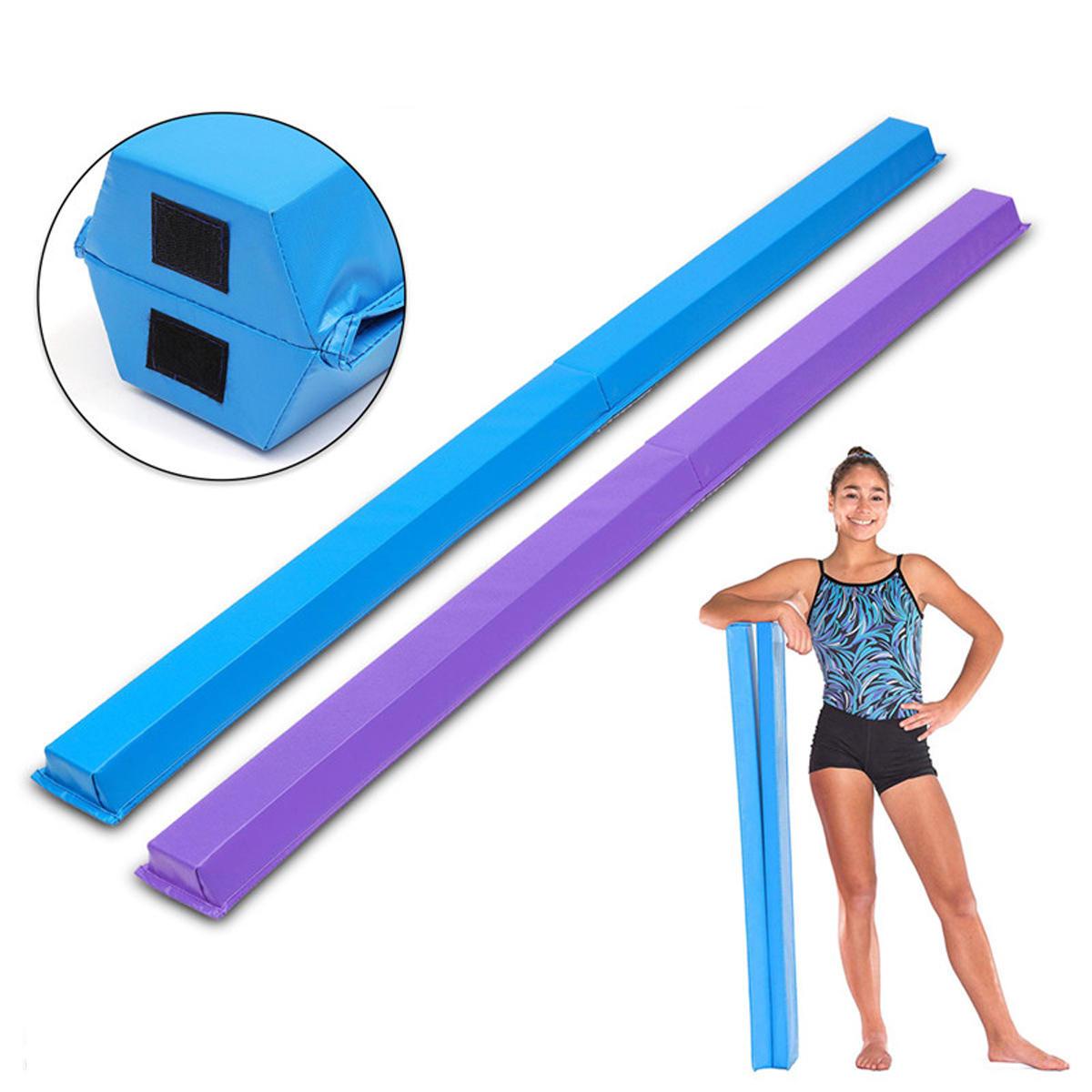 94.48x3.93x2.75inch Gymnastics Folding Balance Beam Horizontal Skill Performance Training Exercise Tools Airtrack