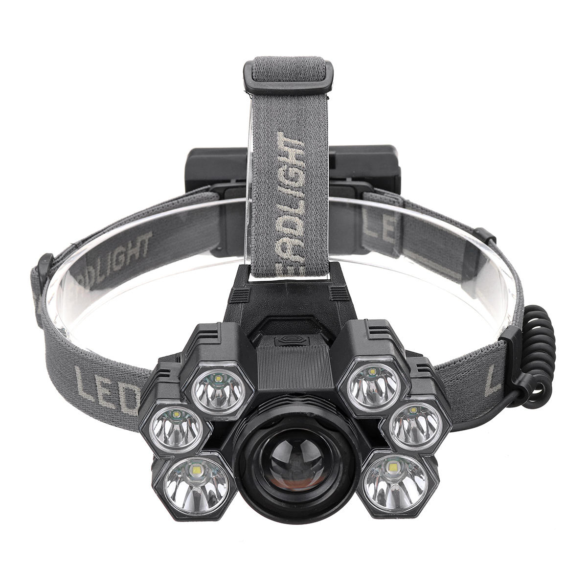 BORUiT B50 L2+4xXPG2 1200LM 6 Modes 160°Rotatable Type-C Headlamp Outdoor Cycling Camping Multifunctional Headlamp - 2