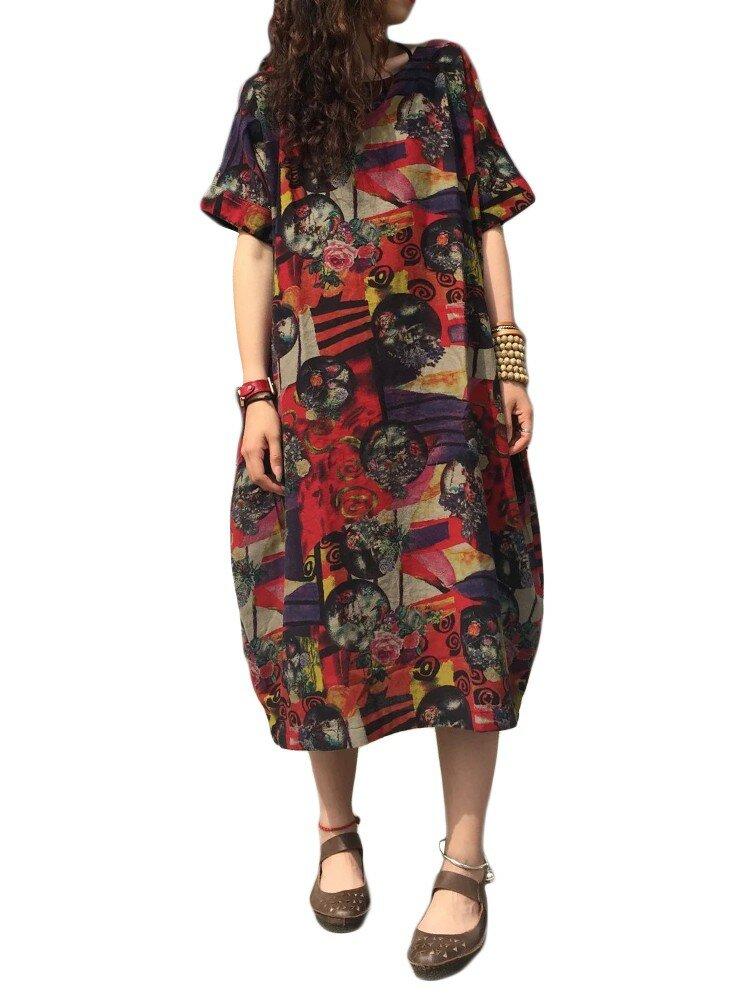 Holiday Floral Print Tube Top Sleeveless Maxi Dress - 1
