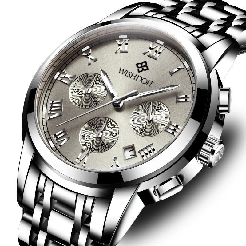 NAVIFORCE 9163 Waterproof Business Style Dual Display Watch - 1