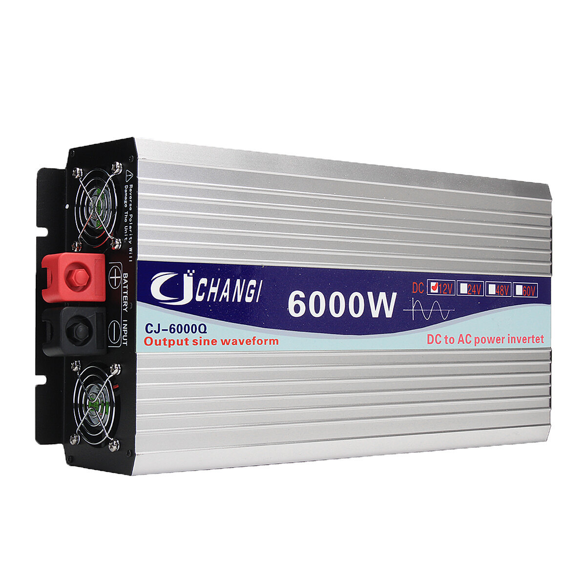 Banggood coupon: Inversor de onda senoidal pura solar inteligente DC 12V / 24V para AC 110V 60Hz 3000W / 4000W / 5000W / 6000W Conversor
