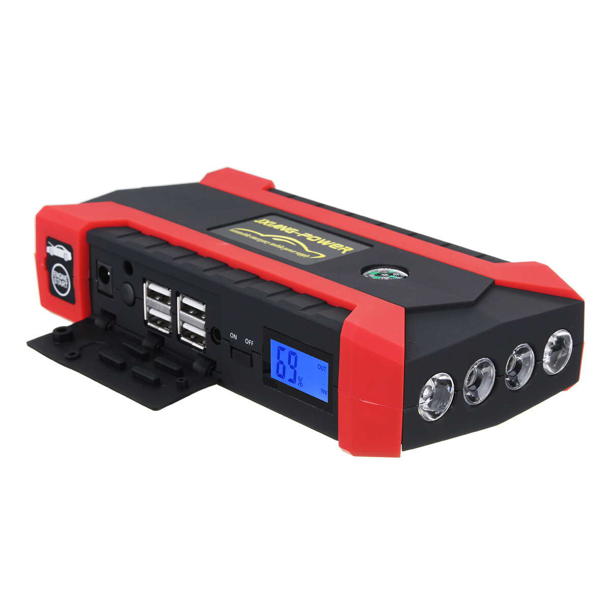 Car Jump Pack >> 16000mah 12v Car Jump Starter Battery Booster Pack Charger Power Bank With Led Flashlight 4 Usb Port