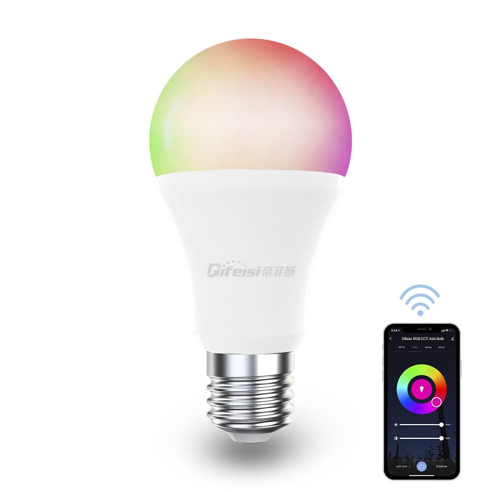 Difeisi DFS-EC-0001 E27 Умная лампа 9 Вт WIFI A60 RGB + CCT 810LM AC220-240V Работает с Alexa и Google Assistant