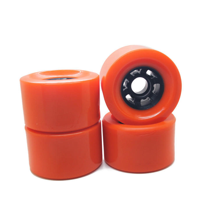 Maxfind 4 Pcs Skateboard Wheels 80A 80% Rebound Rubber Casters Pu Wheel