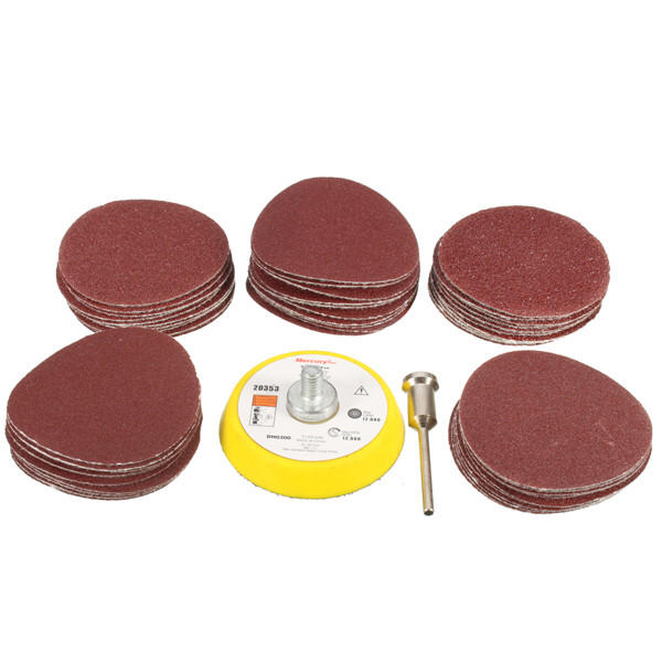 """5/"""" Inch 5 Sandpaper Disks P400 Grit Peel and Stick Adhesive Abrasive Sand Paper"""