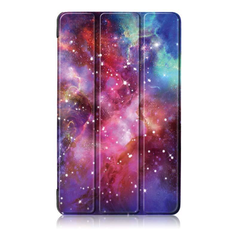 Coperchio della custodia del Tablet Pringting a tre pieghe per il nuovo F ire HD 7 2019 La Via Lattea - 2