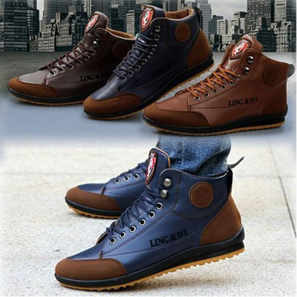 Men Microfiber Leather Hand Stitching Comfy Non Slip Soft Casual Boots - 11