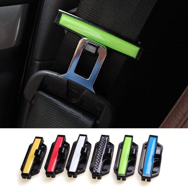 2 chiếc điều chỉnh dây an toàn xe hơi Khóa chặt dây an toàn cố định ban nhạc an ninh