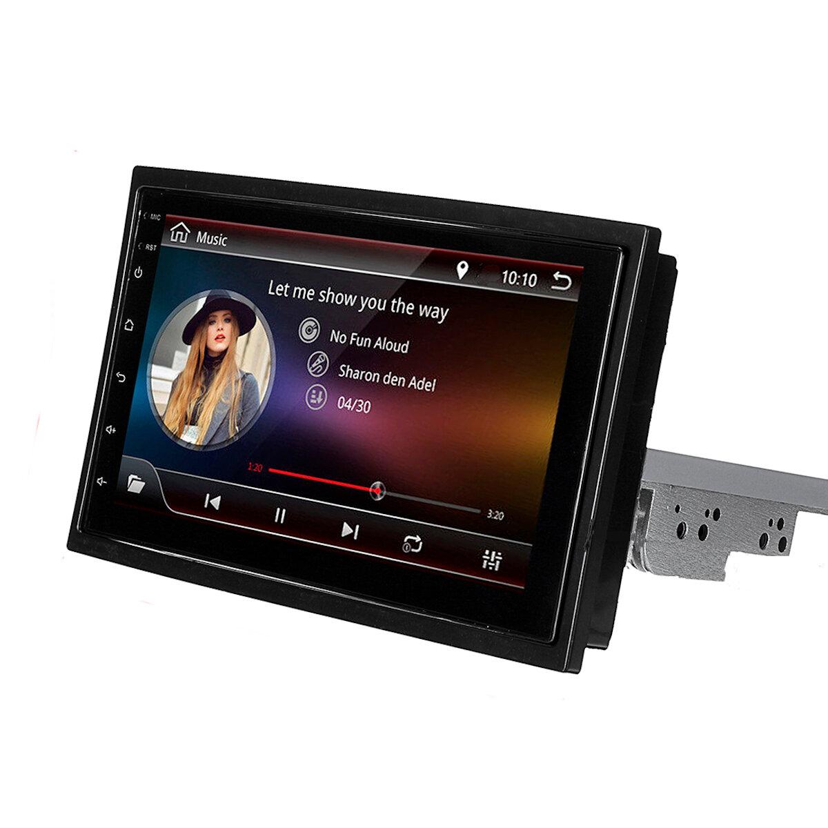 7インチ1 Din Android 8.1カーステレオラジオマルチメディアプレーヤー調整可能スクリーン4コア1GB + 16GB GPS Wifi Bluetooth FM AM