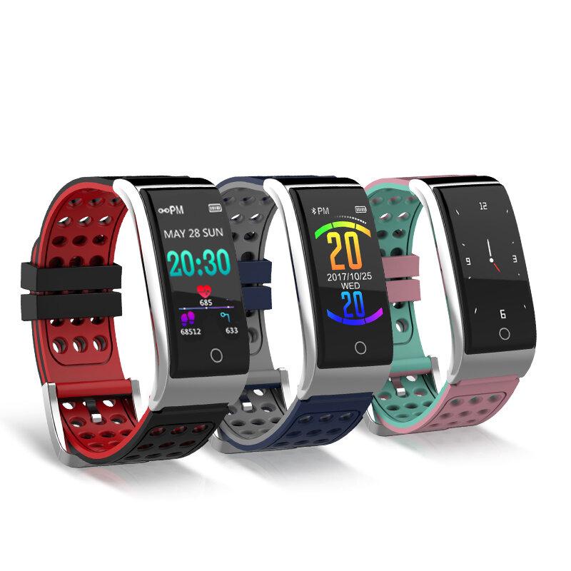 Đồng hồ đo huyết áp Nướngey E08 ECG EKG Theo dõi tập thể dục 3D Màu UI IP67 Đồng hồ thông minh chờ lâu