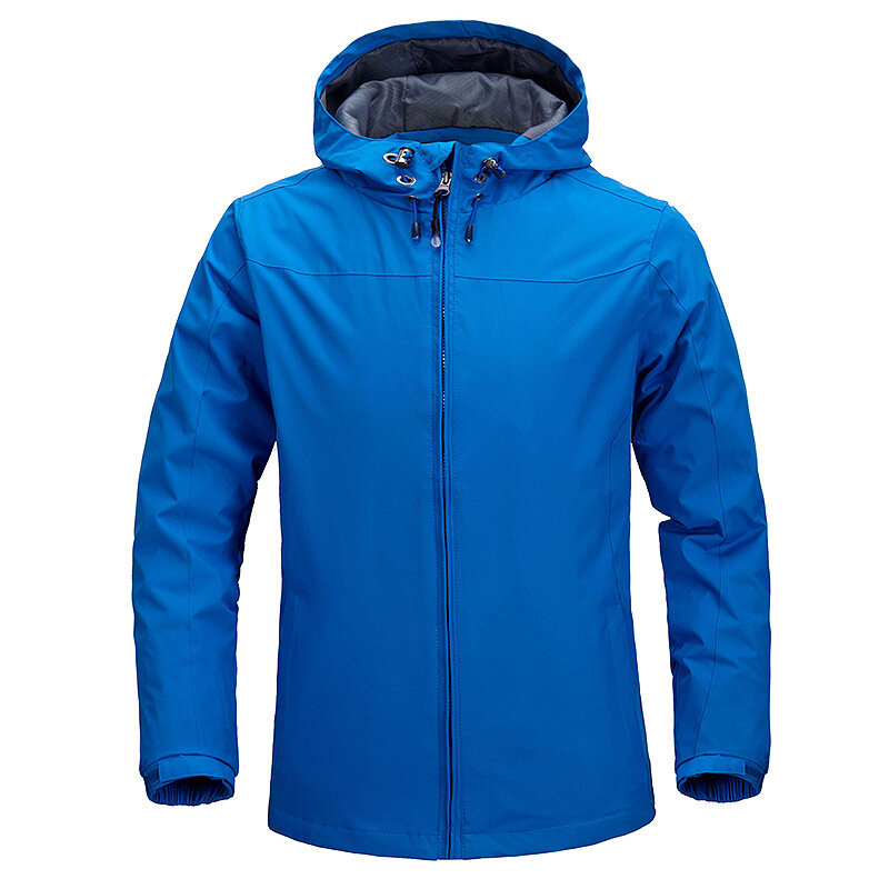Mens Outdoor Water Repellent Hiking Outdoor Windproof Casual Jacket