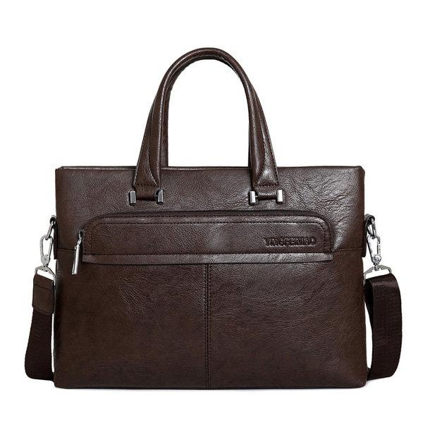 Men PU Business Crossbody Bag Outdoor Handbag Briefcase