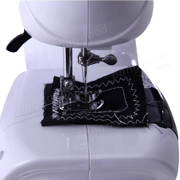 Portable Mini Desktop Sewing Machine Double Speed Automatic Thread with Light - 2