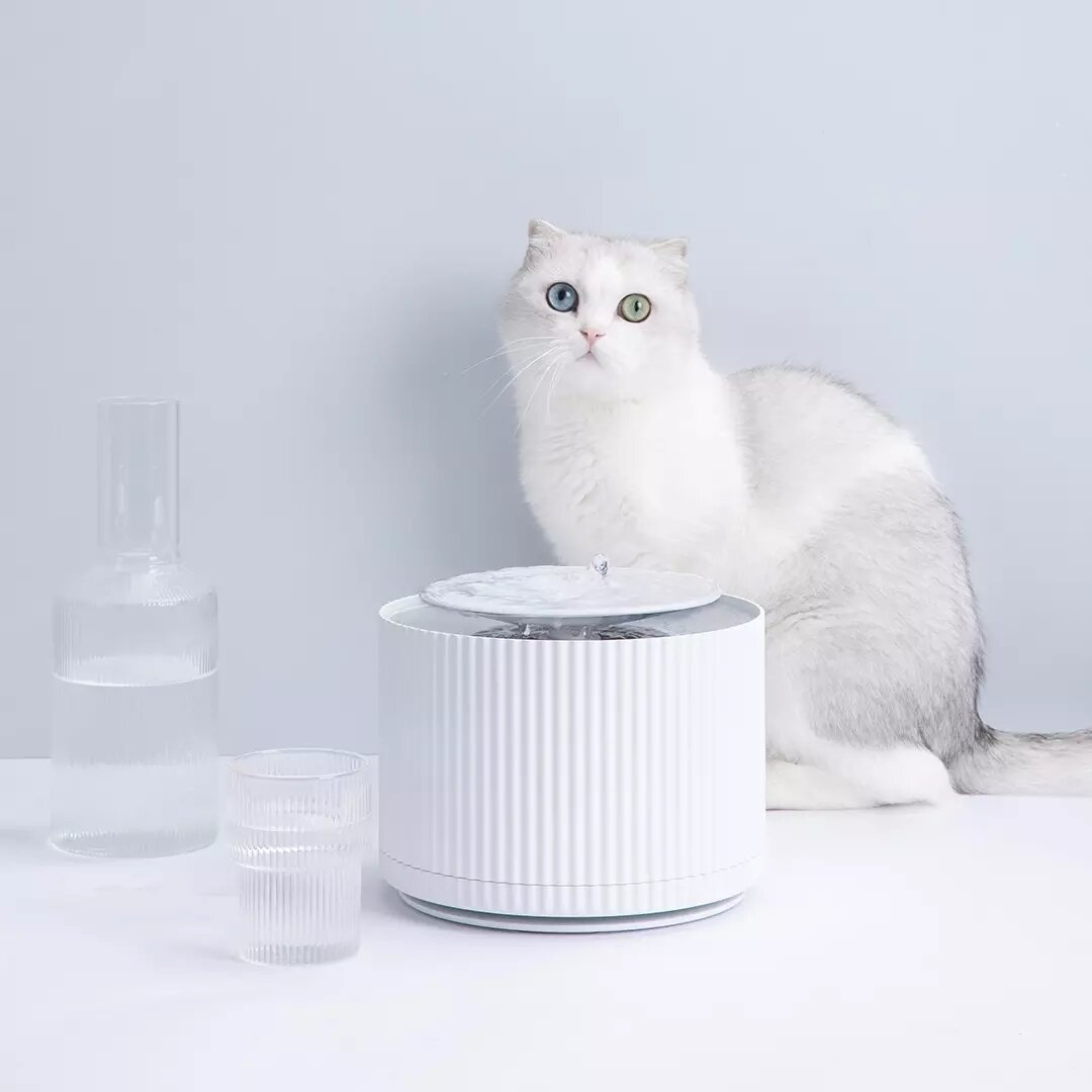 FURRYTAIL Smart Cat Pet Water Dispenser Water Purifier 5 Layer Filter 360 Degree Open Drinking Tray Pet Drinking Fountain From XiaoMi Youpin