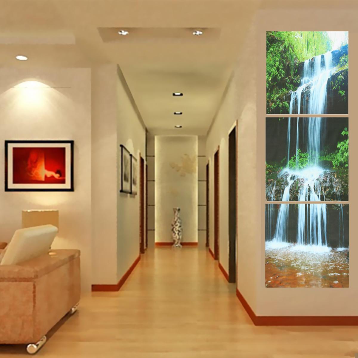 3 каскада большой водопад обрамлен печать картины холст стены искусства картины домой украсить гостиную - 1