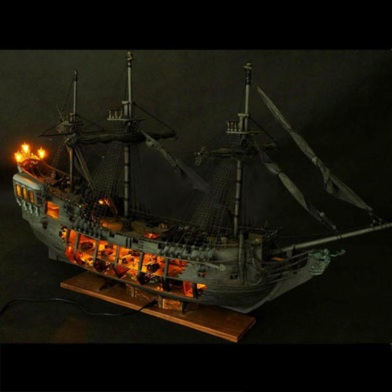 Pirate Full Scene Black Pearl Sailing Ship Boats Model Kit DIY Crafts