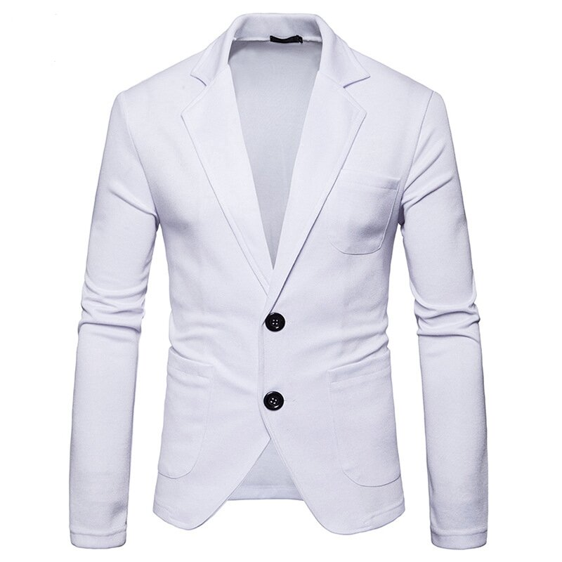 Mens Slim Fit Solid Color Single-breasted Buttons Waistcoat Fashion Business Casual Vest - 2