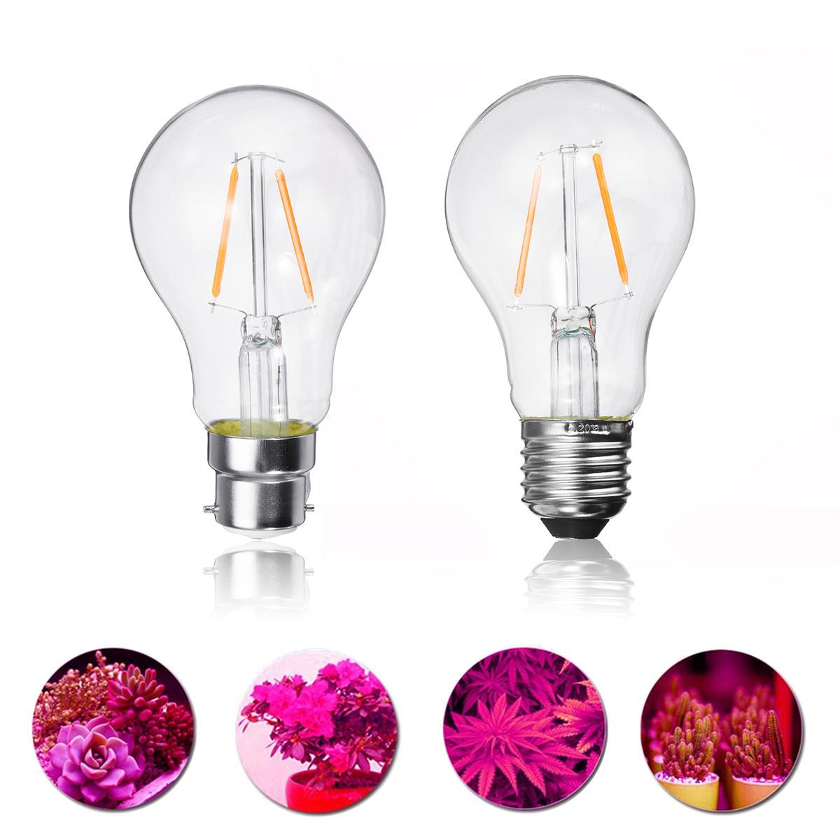 2W E27 B22 A60 LED Planta Crescer lâmpada para hidroponia com efeito de estufa não-regulável AC85-265V