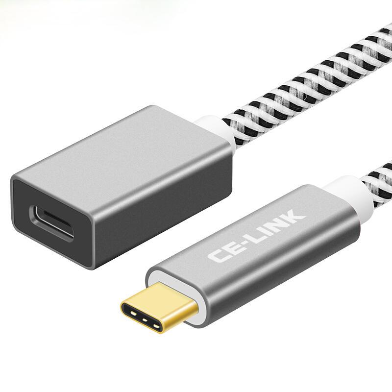 여성을위한 CE-LINK 10Gbps Type-C 남성 전체 기능 확장 케이블 USB 3.1 데이터 케이블 NS 용