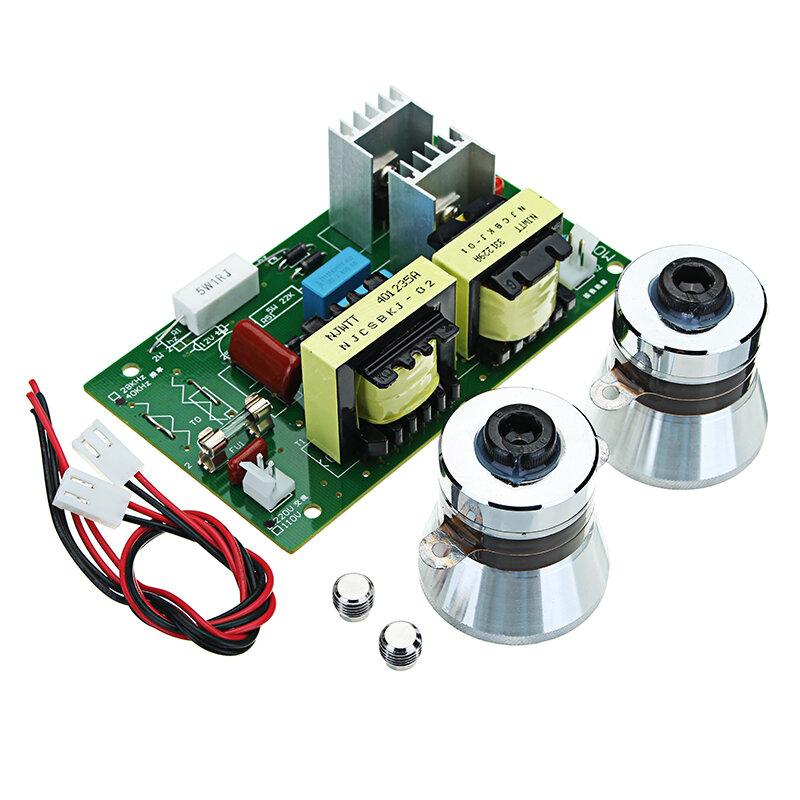 60W 40KHz Ultrasonic Cleaning Transducer Cleaner Power Driver Board 220VAC 100W