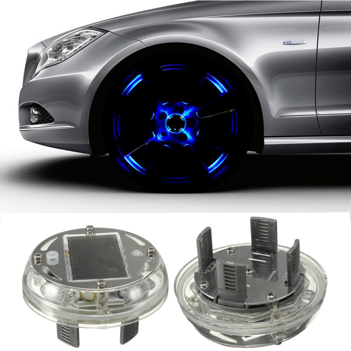 Solar Energy LED Car Wheel Tire Rim Flash Light Decoration Lamp 4 Flashing Modes