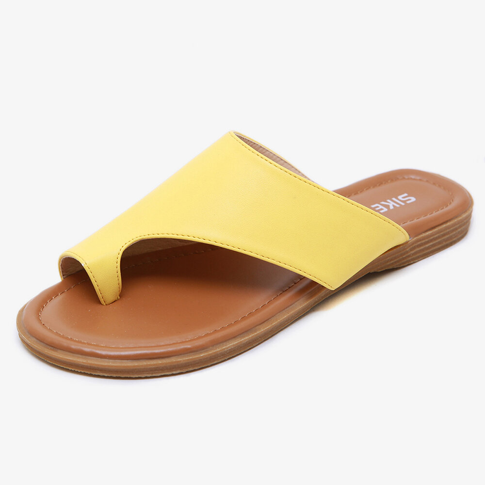 LOSTISY Handmade Stitching Hollow Casual Comfy Sandals - 10