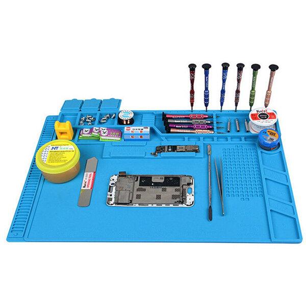 DANIU Heat Resistant Silicone Pad Desk Mat Heat Insulation Maintenance Platform BGA Soldering Repair Station - 5 Styles for Option - 1