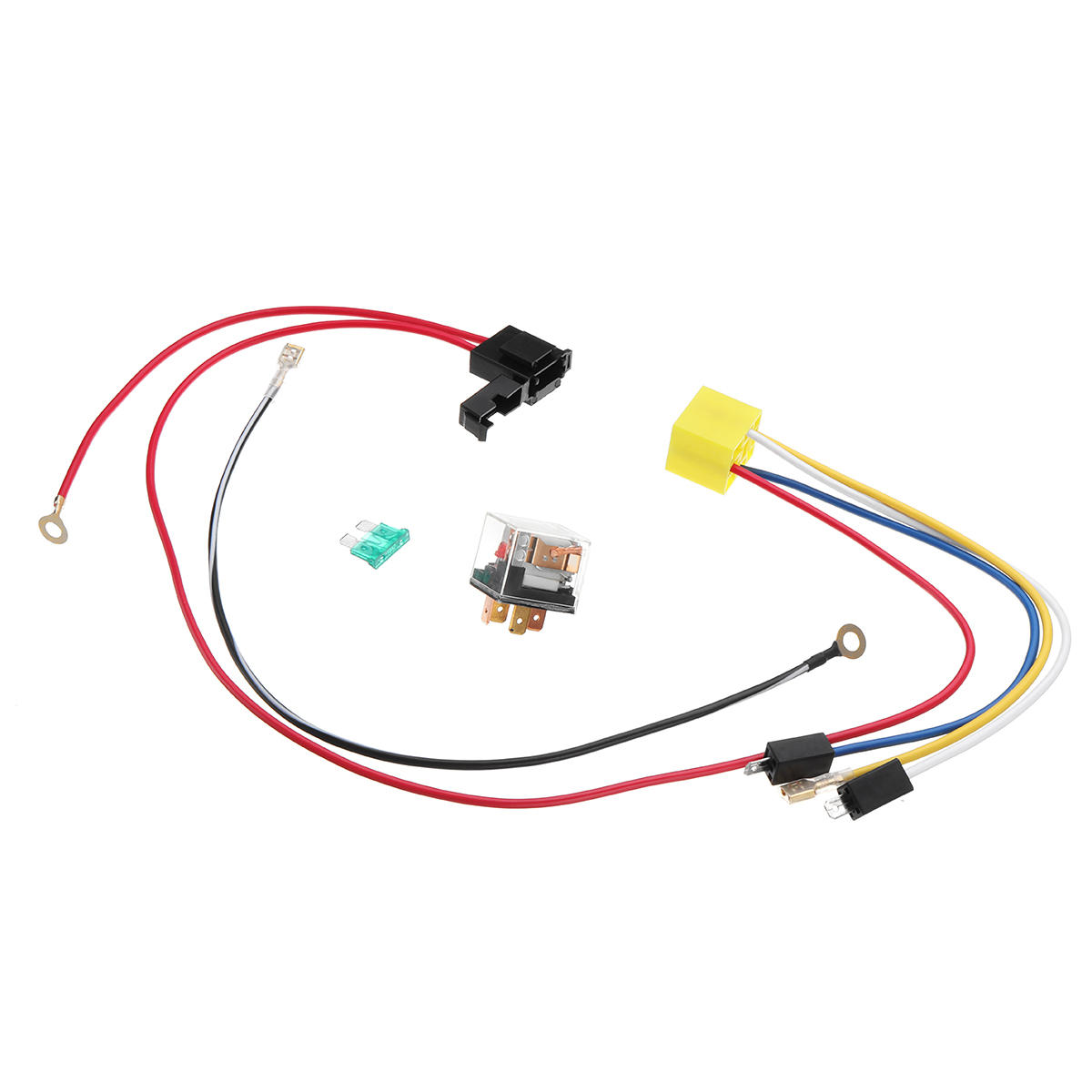 12V Dual Tone Electric Air Horn Wiring Harness Relay For Car Truck A Horn Wiring Harness on