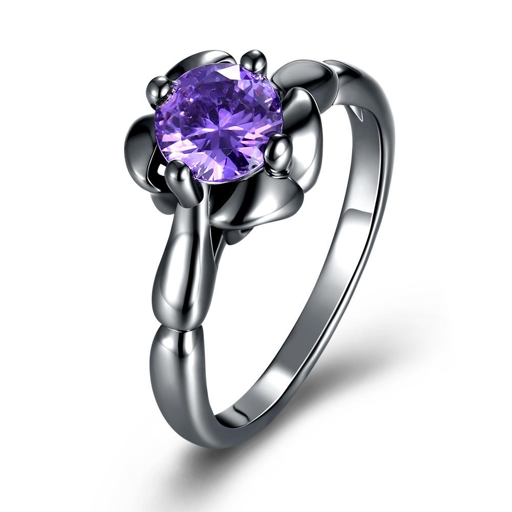 INALIS Flower Shiny Zircon Women's Finger Ring Wholesale for Women Jewelry