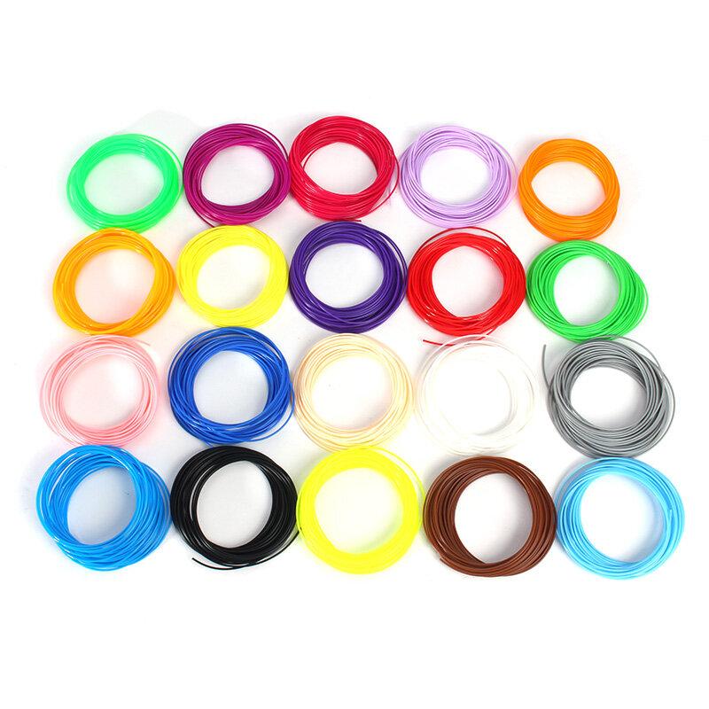 1.75mm 20色5 / 10m x ABS/PLA 3Dプリンタ用フィラメントペン
