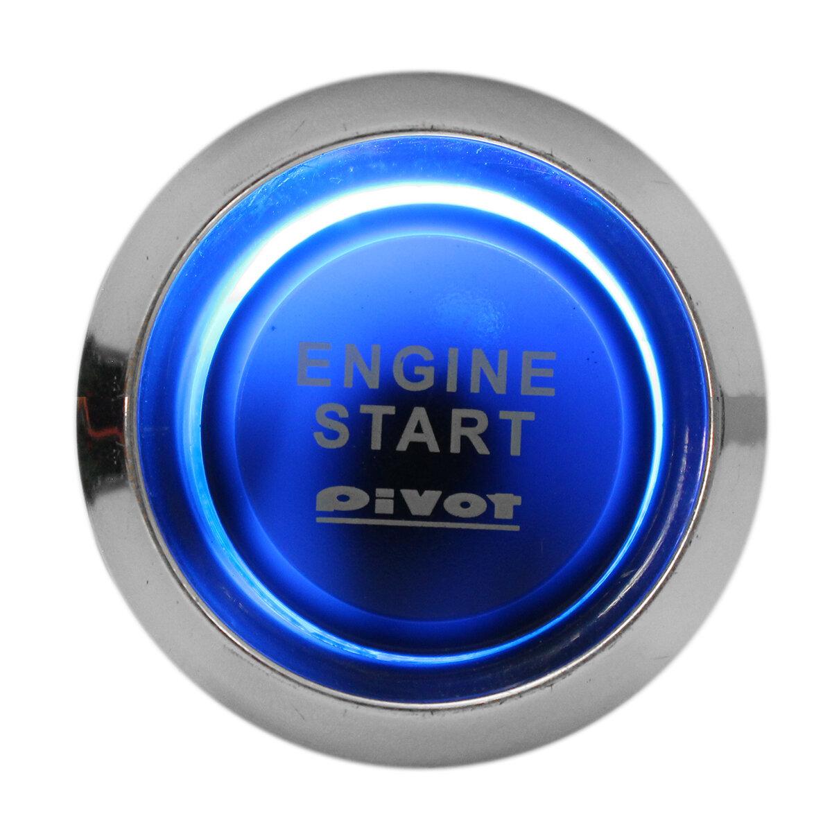Car Auto Engine Start Push Button Switch Ignition Starter Universal Kit  Blue LED