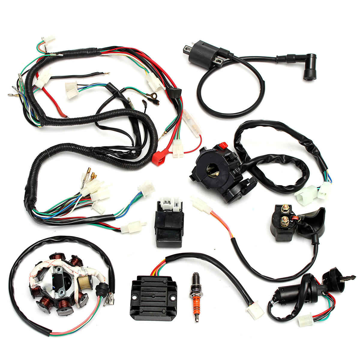 Atv Wiring Harness Complete - Wiring Diagram Then on oxygen sensor extension harness, electrical harness, engine harness, cable harness, suspension harness, amp bypass harness, pet harness, fall protection harness, pony harness, battery harness, obd0 to obd1 conversion harness, maxi-seal harness, radio harness, alpine stereo harness, nakamichi harness, safety harness, dog harness,