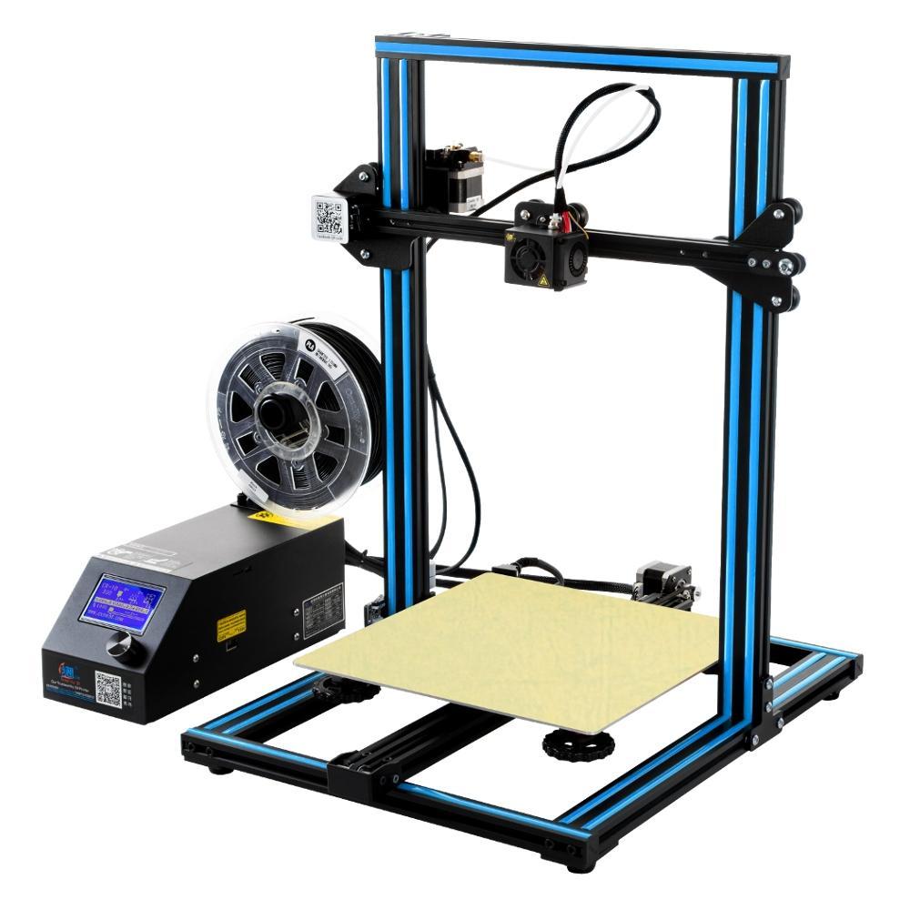Creality 3D® CR-10 Azul DIY Kit de Impresora 3D 300 * 300 * 400mm Tamaño de Impresión 1.75mm 0.4mm Boquilla