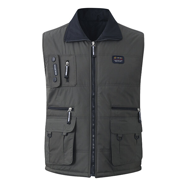Casual Outdoor Multi Pockets Zipper Sleeveless Jackets Vest for Men