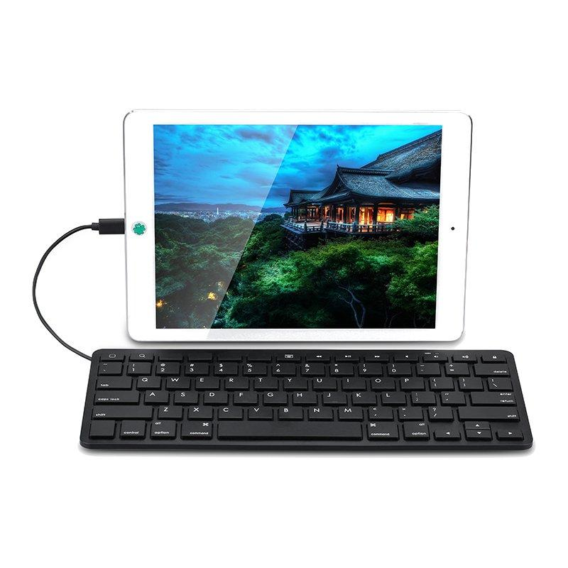 7c9896790ab For 8-pin Lightning Port Wired Keyboard For iPad Pro 12.9