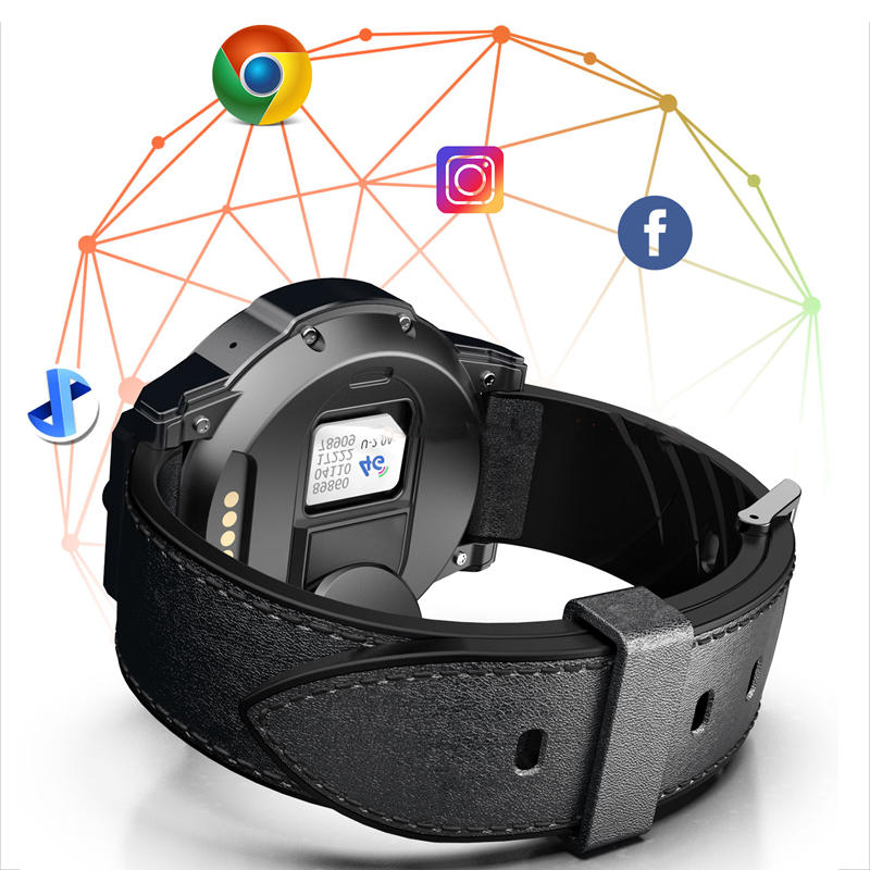 LOKMAT X360 4G 3+32G Dual HD Camera Watch Phone 1.6'' MOTO Touch Screen Optical Heart Rate Monitor Barometer Time Sync Sports Fitness Smart Watch - 4