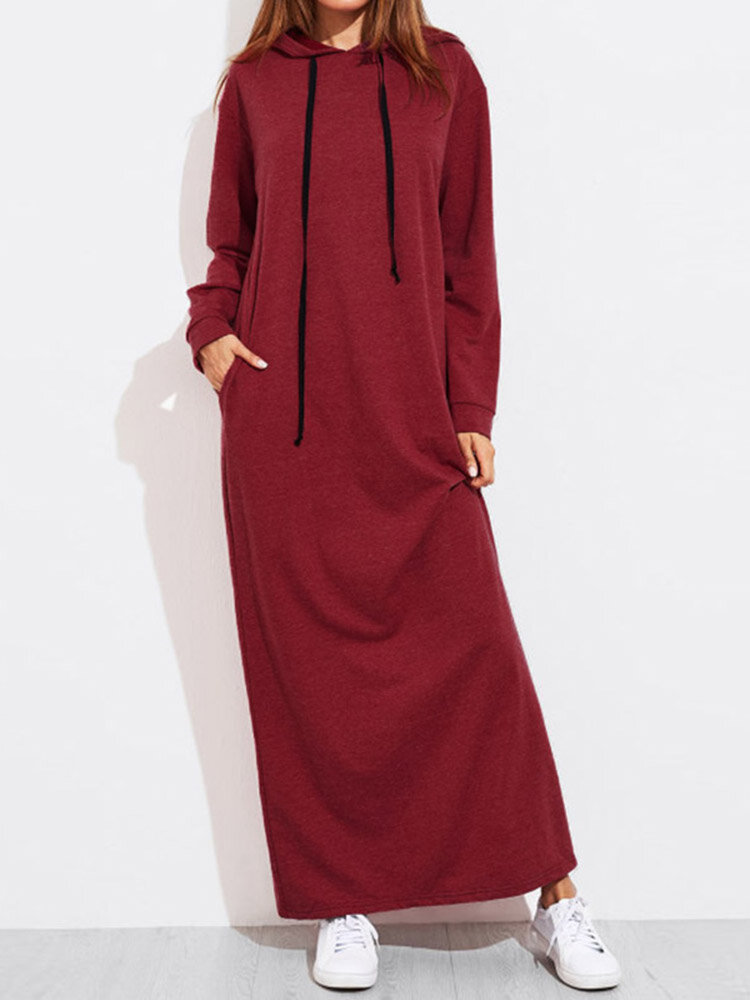 Hollow Splice Swing Maxi Dress - 1